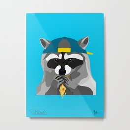 Rebel Trash Panda Metal Print