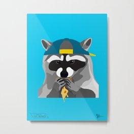 Rebel Trash Panda Metal Print