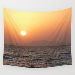 Sunrise at Tiran Island Wall Tapestry