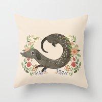 dachshund Throw Pillows featuring Dachshund by A.Vogler