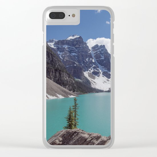 Lake Moraine Top View Clear iPhone Case