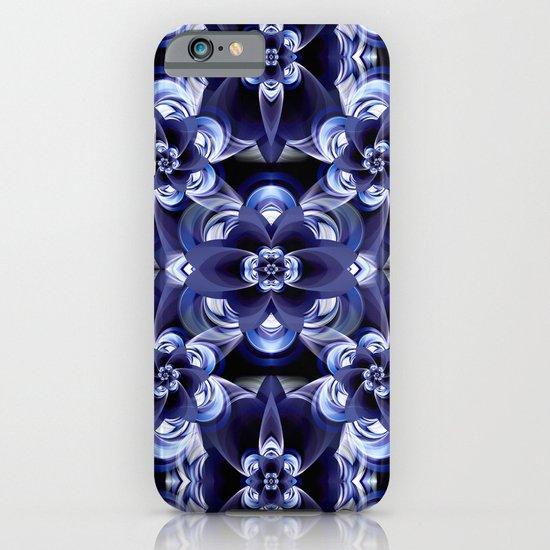 Flower print darkblue iPhone & iPod Case
