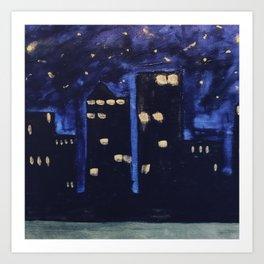 Haute Blue Night Art Print