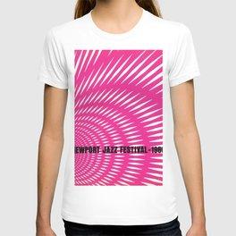 1966 Newport Jazz Festival Vintage Advertisement Poster Newport, Rhode Island T-shirt