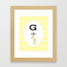 G for Giraffe Framed Art Print