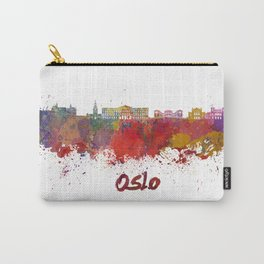 Oslo skyline in watercolor Carry-All Pouch