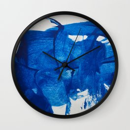 The blue goddess Wall Clock