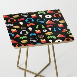 Video Game Party Snack Pattern Side Table
