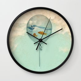BALLOON FISH Wall Clock