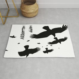 Happy Halloween Murder of Crows  Rug