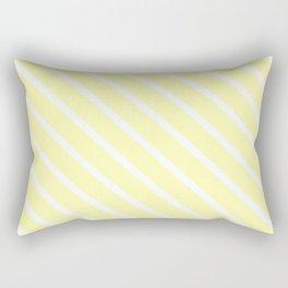 Vanilla Diagonal Stripes Rectangular Pillow