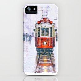 Istanbul Nostalgic Tramway iPhone Case