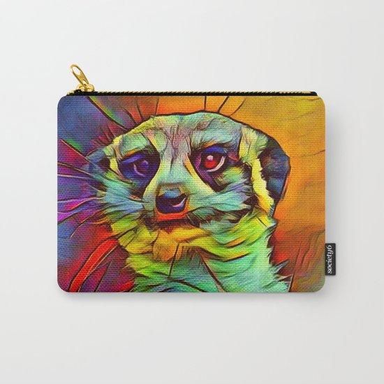 Animal ArtStudio -funky meerkat Carry-All Pouch