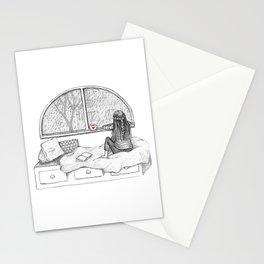 Rainy Day Window pencil illustration Stationery Cards