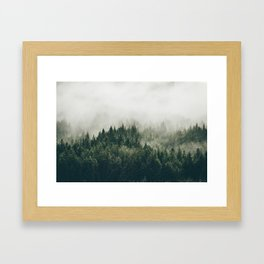 Foggy Mountain Side Framed Art Print