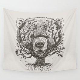 Bear n Tree Wall Tapestry
