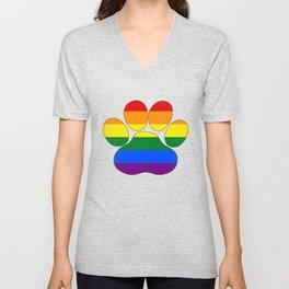 Rainbow Paw Unisex V-Neck