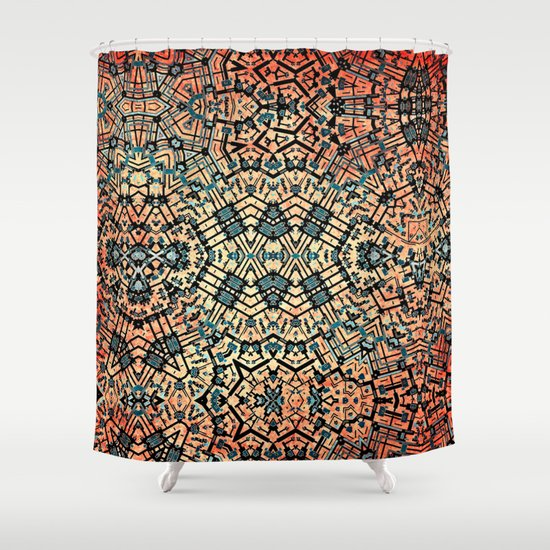 Composition Shower Curtain