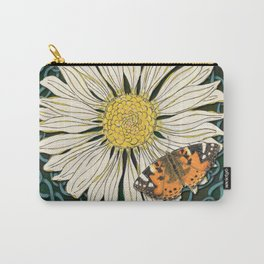 Celtic Daisy and Painted Lady Butterfly Carry-All Pouch