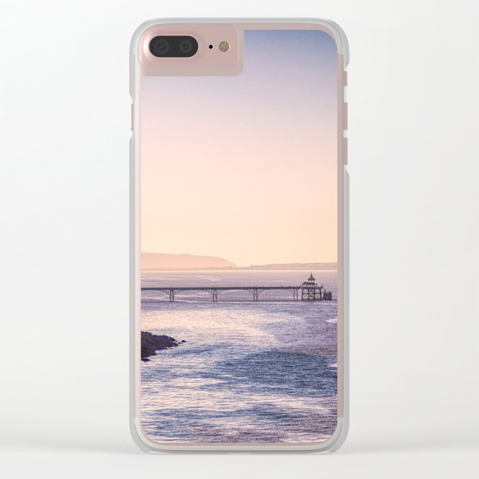 Clevedon Sea front Clear iPhone Case