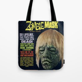 Zombie Mask Tote Bag