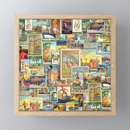 Vintage Hawaii Framed Mini Art Print