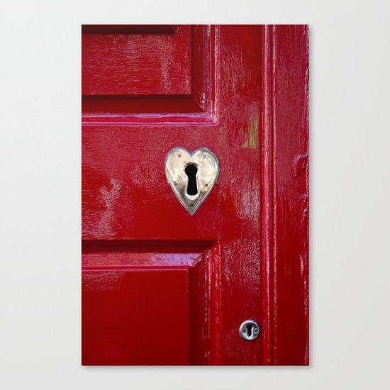 Heart Shaped Lock Canvas Print
