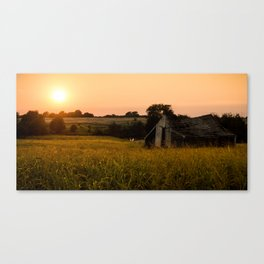 Abandoned Barn in the Plains of Oklahoma Canvas Print