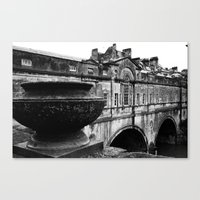 bath Canvas Prints featuring Bath by Portia Legge