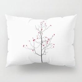 Twig Tree - Crimson Pillow Sham
