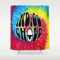 indigo Shower Curtains featuring Indigo by Top Head Culture