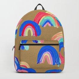 Abstract Rainbow Arcs – Kraft Backpack