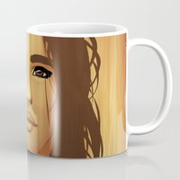 native american Mugs featuring Native American by Kimball Gray