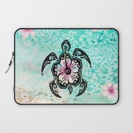 Hibiscus Turtle Laptop Sleeve