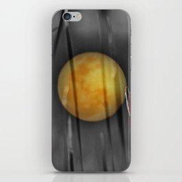 Full moon and bulrushes iPhone Skin