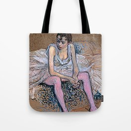Dancer in Pink Tights Tote Bag