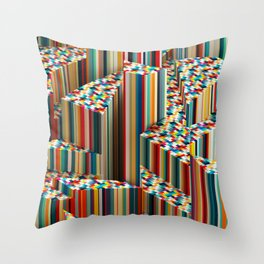 Stretched Pattern Throw Pillow
