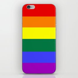 Gay pride flag iPhone Skin