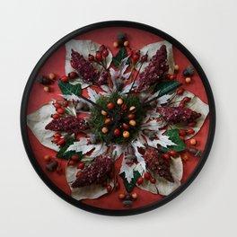 Nature Mandala: December Wall Clock