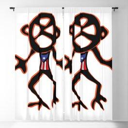 PUERTO RICO Taino Symbols Blackout Curtain