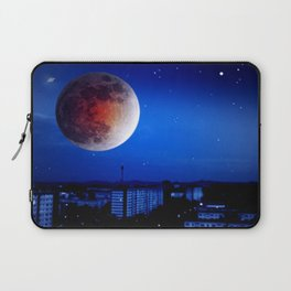 Small moon over the city. Laptop Sleeve