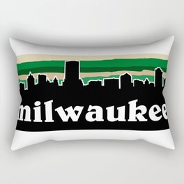 Milwaukee Cityscape Rectangular Pillow