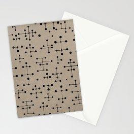 Black Stars Stationery Cards
