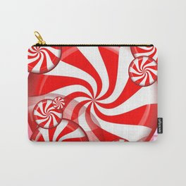 RED PEPPERMINT CHRISTMAS HOLIDAY CANDY Carry-All Pouch
