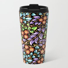 Filigree Floral smaller scale Metal Travel Mug