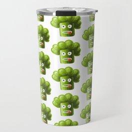 Funny Broccoli Pattern Travel Mug
