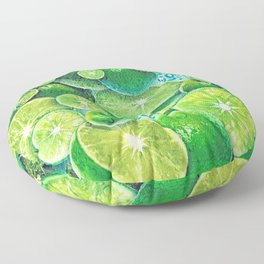 Lime Time Floor Pillow