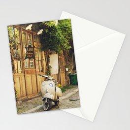 Vintage Vespa in Paris Stationery Cards