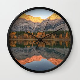 Autumn Gold Wall Clock