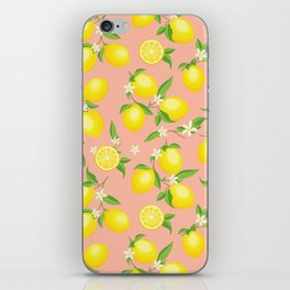 You're the Zest - Lemons on Pink iPhone Skin
